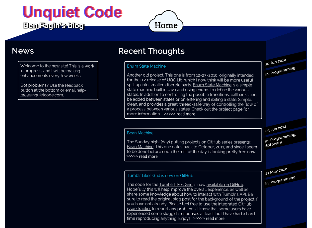 RIP, UnquietCode version 2.0