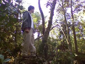 Isaac hiking