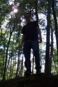 Curtis on a tree.