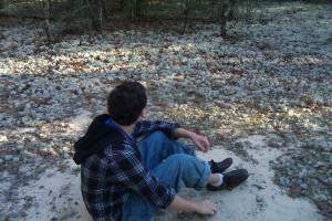 Isaac with lichen