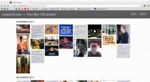 Tumblr Likes Grid